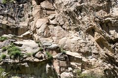 Rocky slope in the mountains Stock Photos
