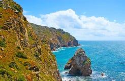 The rocky slopes of Cape Roca Stock Photo