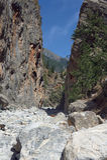 Rocky slopes Samaria Gorge Stock Photo