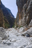 Rocky slopes Samaria Gorge Royalty Free Stock Photo