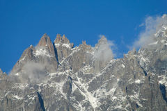 Mountain range in the Alps stock images