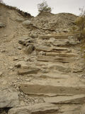 Rocky Staircase. Hiking Trail Stairs Stock Photo