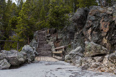 Rocky Staircase chez Yellowstone Images libres de droits