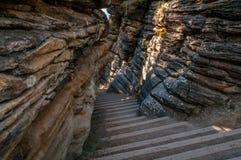 Rocky Stairway Foto de archivo
