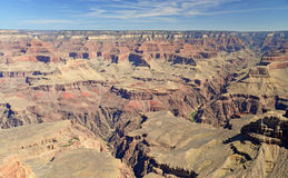 The rocky and stark landscape of the Grand Canyon at the South Rim, Arizona Royalty Free Stock Image