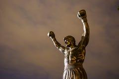 Rocky Statue em Philadelphfia Foto de Stock Royalty Free