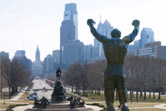 ROCKY STATUE. On philadelphia art musuem steps Royalty Free Stock Image