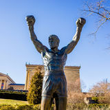 The Rocky Statue in Philadelphia,. PHILADELPHIA - FEB 27: The Rocky Statue in Philadelphia, USA, on February 27, 2014. Originally created for the movie Rocky III royalty free stock images