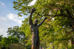 The Rocky Statue in Philadelphia Stock Images