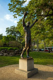 The Rocky Statue in Philadelphia. PHILADELPHIA - May 7: The Rocky Statue in Philadelphia, USA, on May 7, 2015. Originally created for the movie Rocky III, the stock image
