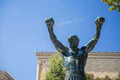 The Rocky Staue. Famous Rocky Statue in Philadelphia, Pennsylvania Stock Photo