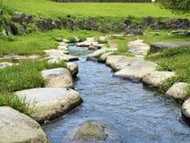 Rocky Stepping Stones a lo largo del río Foto de archivo libre de regalías