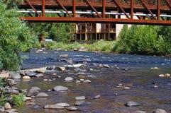 Rocky Stream i bergen av Colorado arkivbild