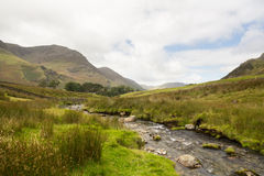 Rocky stream leads towards Buttermere Royalty Free Stock Photography