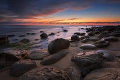Rocky sunrise Stock Images