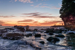 Rocky Sunrise Seascape at Avoca Beach. Taken at Avoca Beach, Central Coast, NSW, Australia Royalty Free Stock Photos