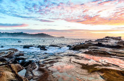 Rocky Sunrise Seascape. Taken at Avoca Beach, Central Coast, NSW, Australia Royalty Free Stock Photo