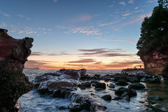 Rocky Sunrise Seascape Royalty Free Stock Photography
