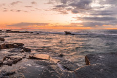 Rocky Sunrise Seascape. Taken at Blue Bay, Central Coast, NSW, Australia Royalty Free Stock Images
