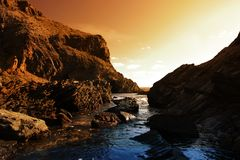 Free Rocky Sunset Stock Image - 2230221
