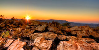 Rocky Sunset. Sunset on the rocky mountains Stock Images