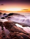 Rocky Surf Stock Image