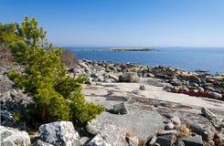 Rocky Swedish beach Stock Photos