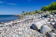 Rocky Swedish beach Stock Image