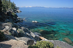 Rocky Tahoe Lakeshore Stock Images