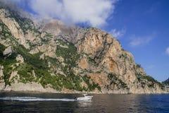 Rocky terraces at Capri Island Royalty Free Stock Photos