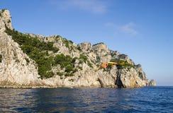 Rocky terraces at Capri Island Stock Photo