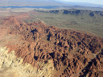 Rocky terrain of Nevada near Lake Mead Royalty Free Stock Images