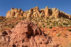 Rocky terrain of Utah deserts Royalty Free Stock Photos