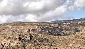 Rocky Terrain. View from Mt Lemon near Tucson, Arizona Royalty Free Stock Photos