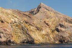 Rocky terrain on White Island Royalty Free Stock Photos
