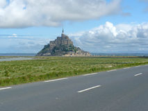 Rocky tidal island Mont-Saint-Michel Royalty Free Stock Photography