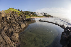 Rocky Tidal Pool Beach Landscape Stock Photos