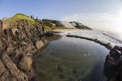Rocky Tidal Pool Beach Landscape Stock Photos