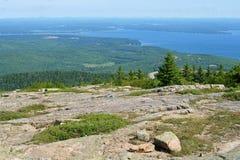 rocky top Acadia park narodowy Zdjęcia Royalty Free