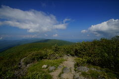 Rocky Top. The Appalachian TrailnAppalachian Mountains, North Carolina Royalty Free Stock Photo