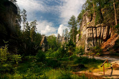Free Rocky Town Adrspach Stock Images - 93337304