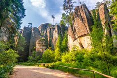 Free Rocky Town In Adrspach - National Nature Reserve. Royalty Free Stock Image - 115719876