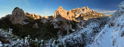 Rocky towny in winter - Sivy vrch -  Tatras Stock Images