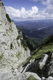 Rocky trail in mountains in summer Royalty Free Stock Images