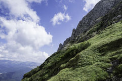 Rocky trail in mountains in summer Stock Image