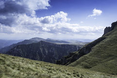 Rocky trail in mountains in summer Stock Images