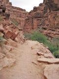 Havasu Falls Trail. The rocky trail to the village of Supai above Havasu Falls in Arizona royalty free stock photos