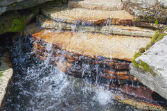 Rocky Tranquil Waterfall Royalty Free Stock Photos
