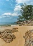 Rocky, Tropical Beach Paradise in Phuket, Thailand Stock Photography