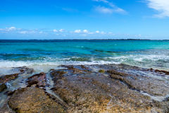 A Rocky Tropical Beach Stock Photography